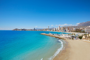 Wall Mural - Benidorm Poniente beach in Alicante Spain