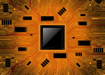 Technology abstract background. Chipset concept vector design