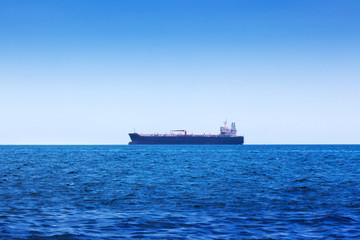 tanker in the ocean bay