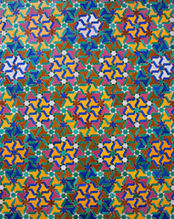 Ornamental Moroccan tile bachkground