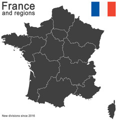 country France and regions since 2016