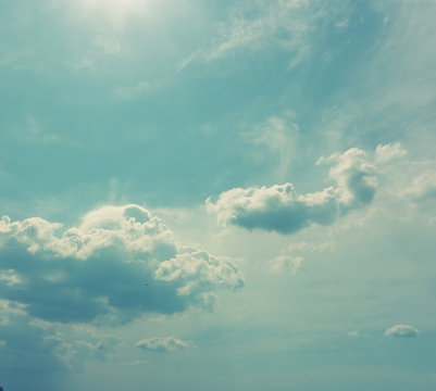 vintage blue sky