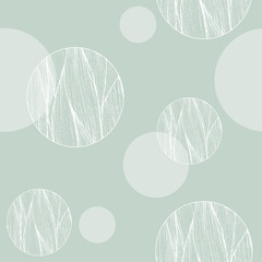 Abstract seamless pattern. Geometric design with striped circles