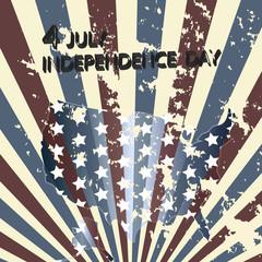 Independence Day- 4 of July - Retro grunge background