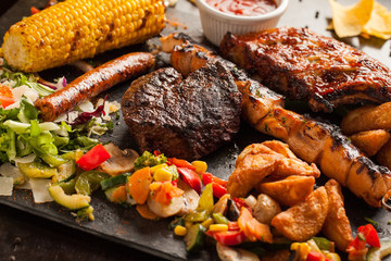 tex mex mixed grill meat