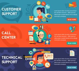 Customer and Technical Support  Call Center Concept