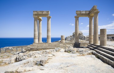 Hellenistic stoa, Lindos