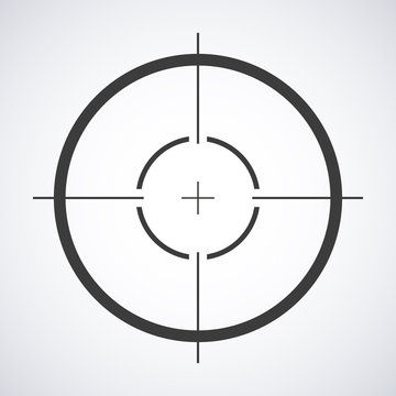 Target icon, sight sniper symbol isolated on a gray background, Crosshair and aim vector illustration stylish for web design