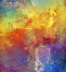 malerei farben pastos regenbogen