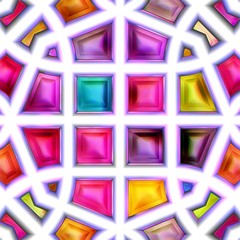 Seamless texture of abstract bright shiny 3D illustration
