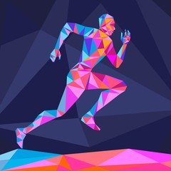 The crystal runner vector illustration