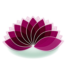 Lotus flower logo design vector