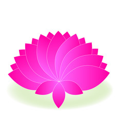 Logo pink lotus flower vector design