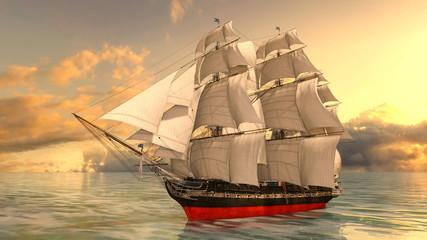 Fotobehang Schip 帆船