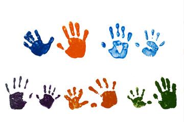 親子の手型