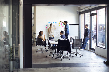 Business people planning during meeting in creative office