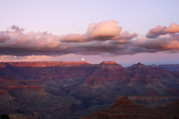View of Grand Canyon at dusk