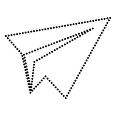 Paper airplane sign