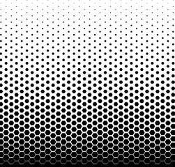 Simple hexagon halftone background