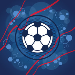Football icon on blue background vector