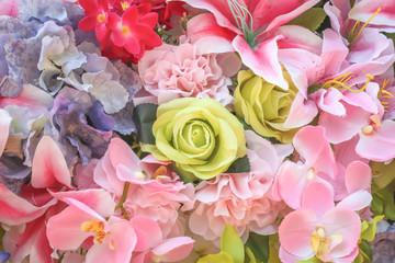 mix bunch flower background.