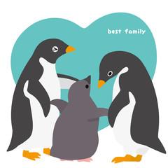アデリーペンギン 家族