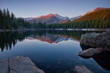 Longs Peak Reflection on Bear Lake
