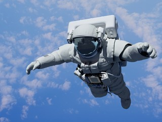 Astronaut above the clouds