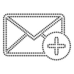 Mail sign illustration with add mark