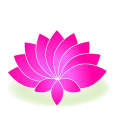 Beautiful lotus flower logo