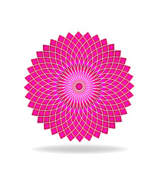 Abstract pink flower pattern logo