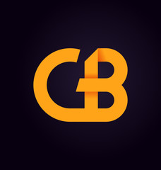 CB Two letter composition for initial, logo or signature