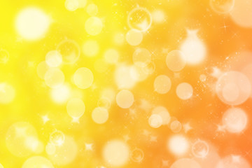 Blurred Golden Bokeh Background with sparkles and glitter.Golden