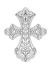 Abstract cross mandala element