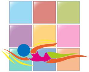 Sport logo for swimming