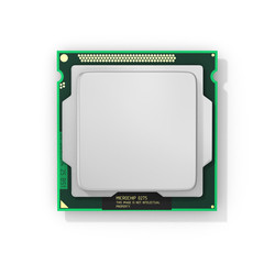 Processor. Computer processor with blank space. Hardware. 3d ill