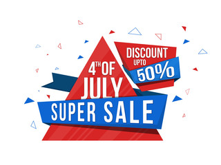 Super Sale Tag or Banner for 4th of July.