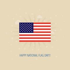 Modern vector American Flag Day design concept