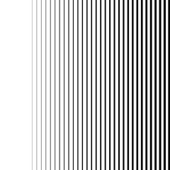 White gradient lines seamless background vector pattern, vertical black stripes, parallel lines from thick to thin