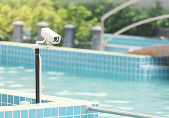 CCTV cameras in the swimming pool