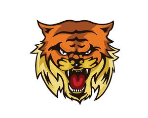Leadership Animal Logo - Aggressive Tiger Leader Character