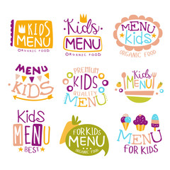 Kids Organic Food Hand Drawn Banner Set