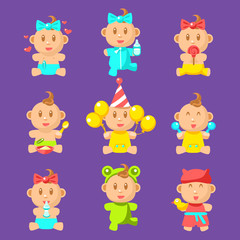 Toddlers And Babies Sticker Set