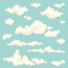 Set of vector clouds