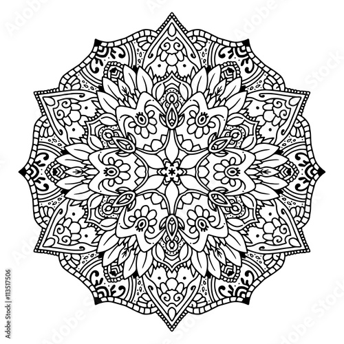 black mandala for coloring mandala vector coloring page mandala art design intricate mandala - Intricate Mandalas Coloring Pages