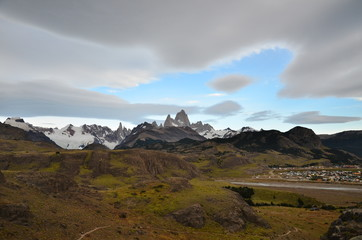 el Chalten from eagle's point of view