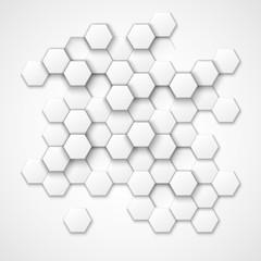 Abstract hexagonal vector background