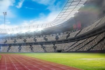 Composite image of a stadium with tribune
