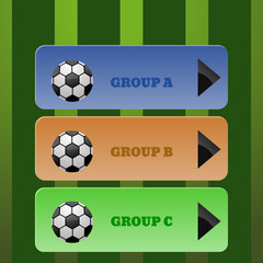 Cokour sport menu of soccer illustration eps 10 vector