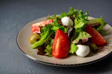 Close-up photo of spring vitamin fresh salad